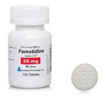Buy Famotidine 20mg Acid Reducing Tablets 1000/Bottle by Carlsbad Technology from a SDVOSB | Heart