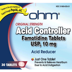 Buy Famotidine 10mg Heartburn Relief Tablets 30/Box online used to treat Heartburn - Medical Conditions