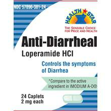 Anti-Diarrheal Relief Tablets, 24 Caplets - Diarrhea Relief - Mountainside Medical Equipment