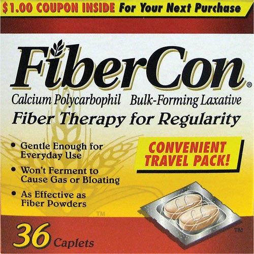 Buy FiberCon Caplets 36 Count Box used for Laxatives by n/a