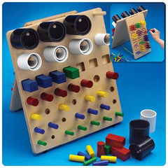 Buy Fine Motor Activity Board by Patterson Medical from a SDVOSB | Sensory Motor Integration Products