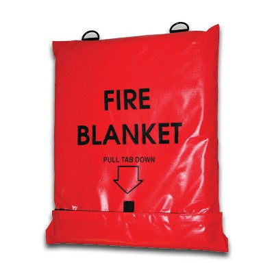Wool Fire Blanket with Orange Bag