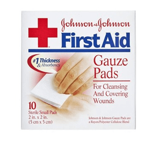 Buy First Aid Gauze Pads, Sterile 10/Box by Johnson & Johnson online | Mountainside Medical Equipment