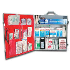 Buy Metal First Aid Kit 100 Person online used to treat First Aid Supplies - Medical Conditions