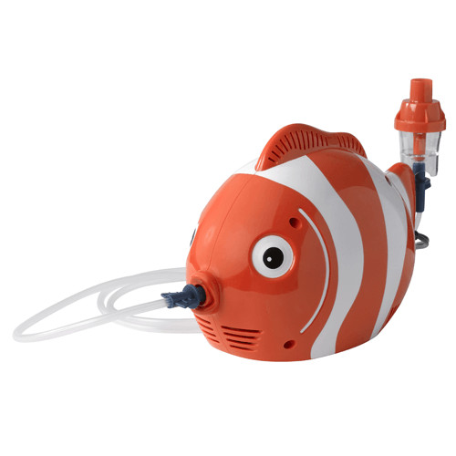 Pediatric  Fish Childrens Nebulizer Machine with Neb Kit, Mouthpiece, Mask Tubing and Carry Bag - Pediatric Nebulizers - Mountainside Medical Equipment