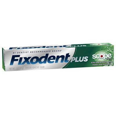 Fixodent Plus Scope Adhesive Cream