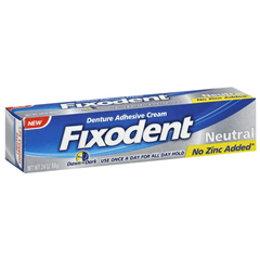 Fixodent Neutral Denture Adhesive Cream, Zinc Free for Oral Care Products by Procter & Gamble | Medical Supplies
