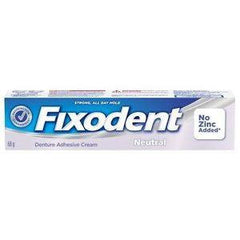 Buy Fixodent Neutral Denture Adhesive Cream, Zinc Free online used to treat Oral Care Products - Medical Conditions