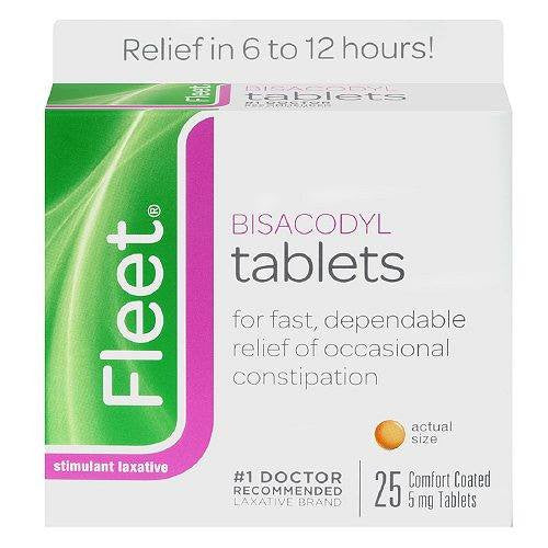 Buy Fleet Bisacodyl Stimulant Laxative Tablets 25ct by n/a | Home Medical Supplies Online