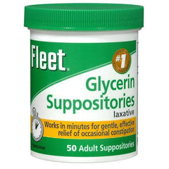 Buy Fleet Glycerin Suppositories for Adults 50 Count online used to treat Laxatives - Medical Conditions