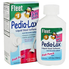 Buy Fleet Pedia Lax Stool Softener for Kids Fruit Punch 4 oz by C.B. Fleet Company | SDVOSB - Mountainside Medical Equipment