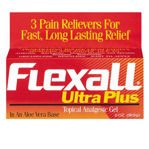 Flexall Ultra Plus Pain Relief Gel with Aloe 2oz