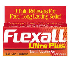 Buy Flexall Ultra Plus Pain Relief Gel with Aloe 2oz by Chattem online | Mountainside Medical Equipment