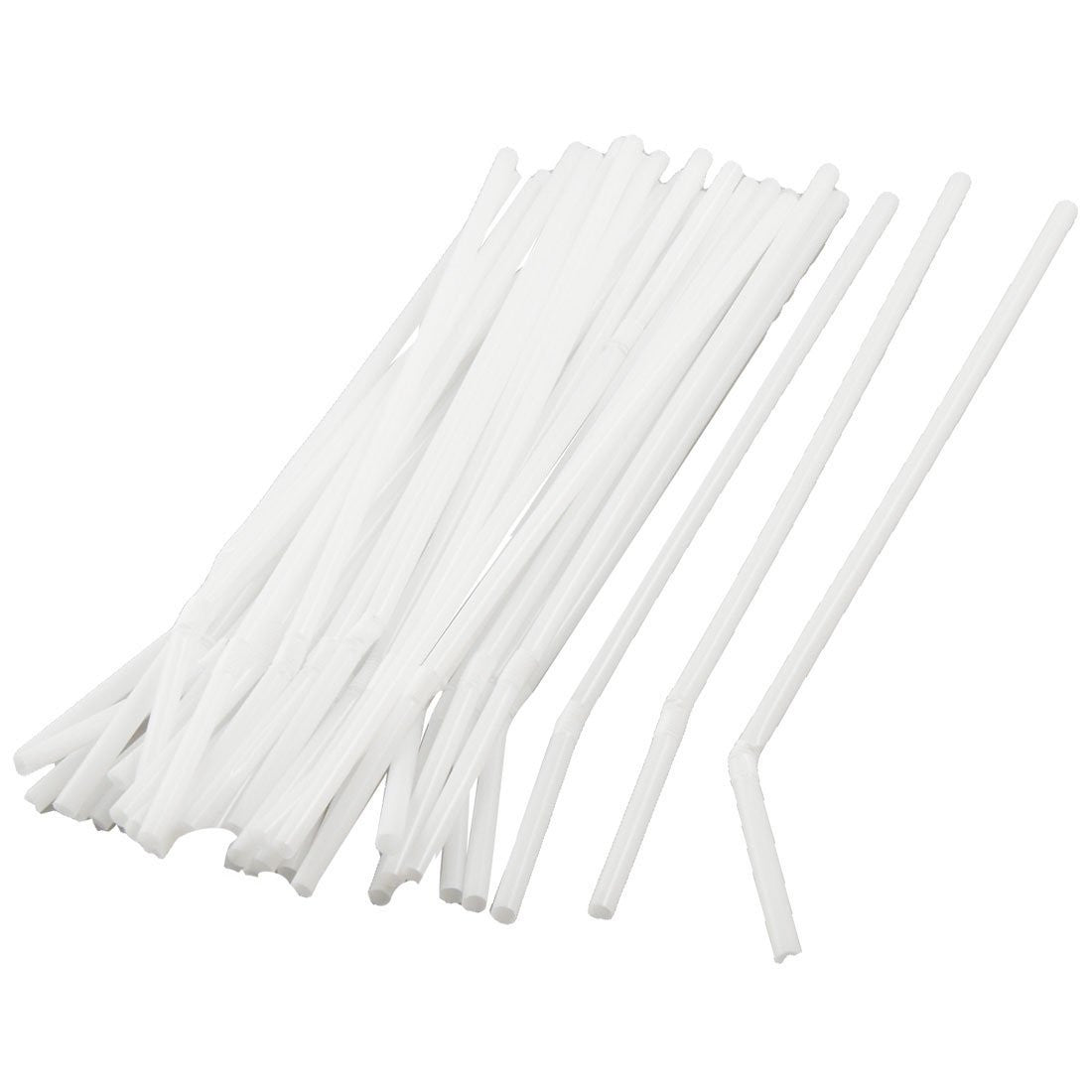 Buy Flexible White Disposable Drinking Straws, Bulk Box of 400 by Dynarex from a SDVOSB | Drinking Straws