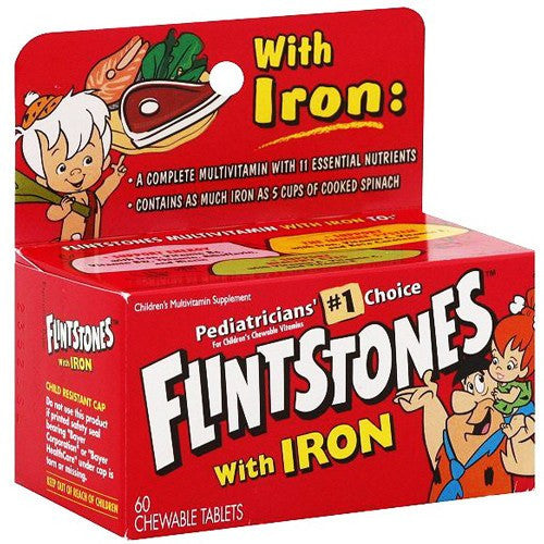 Buy Flintstones Children's Chewable Multivitamin with Iron by Bayer Healthcare | Home Medical Supplies Online