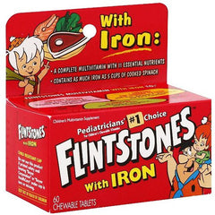 Buy Flintstones Children's Chewable Multivitamin with Iron by Bayer Healthcare | SDVOSB - Mountainside Medical Equipment