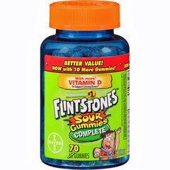 Buy Flintstones Complete Sour Gummies Multivitamins, 70ct by Bayer Healthcare | Home Medical Supplies Online
