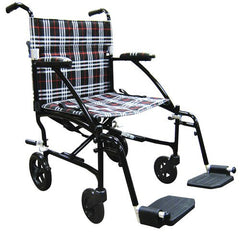 Fly-Lite Aluminum Transport Chair for Transport Wheelchairs by Drive Medical | Medical Supplies