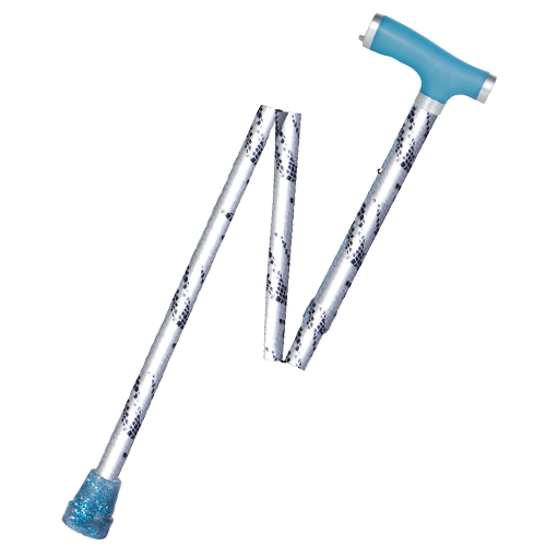 Glow in the Dark Folding Cane with Silicone Gel Grip Handle & Tip - Canes - Mountainside Medical Equipment