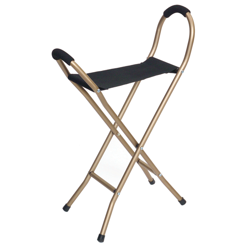 Folding Seat Cane For Sitting and Walking