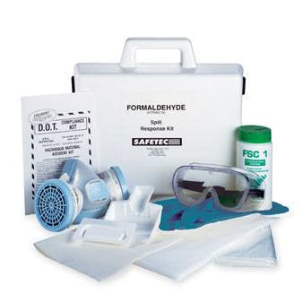 Safetec Formaldehyde Spill Clean-Up Kit with Hard Case - Spill Cleanup Kit - Mountainside Medical Equipment