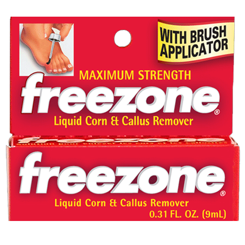 Freezone Corn & Callus Remover with Applicator Brush, 0.31 oz
