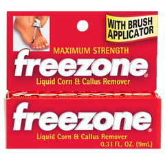 Freezone Corn & Callus Remover with Applicator Brush, 0.31 oz for Plantar Warts by MedTech | Medical Supplies