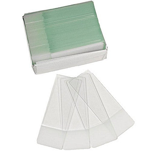 Frosted-Edge Glass Microscope Slides, Ground Edges, 1mm Thick 72/Box