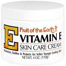 Fruit of the Earth Vitamin E Skin Moisturizing Cream 4 oz - Superior Skin Moisturizer - Mountainside Medical Equipment