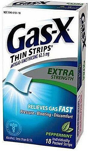 Gas X Anti-Gas Thin Strips Peppermint 18 Count