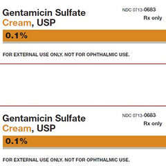 Gentamicin Sulfate Cream 0.1% 15 Grams by G & W