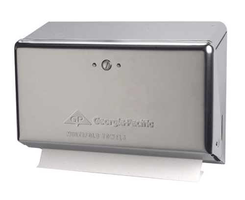 Georgia Pacific Chrome Multifold Space Saver Towel Dispenser - Commercial Towel Dispensers - Mountainside Medical Equipment