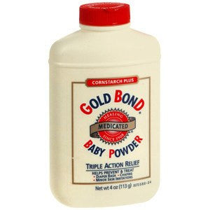 Gold Bond Cornstarch Plus Medicated Triple-Action Relief Baby Powder 4 oz