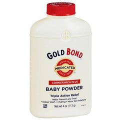 Buy Gold Bond Cornstarch Plus Medicated Triple-Action Relief Baby Powder 4 oz by Chattem from a SDVOSB | Rash