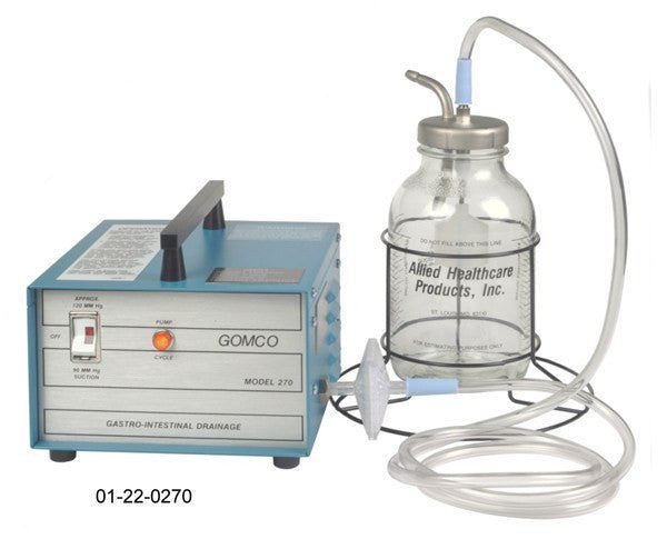 Buy Gomco 270 Gastric Drainage Aspirator Pump by Allied Healthcare from a SDVOSB | Suction Machines