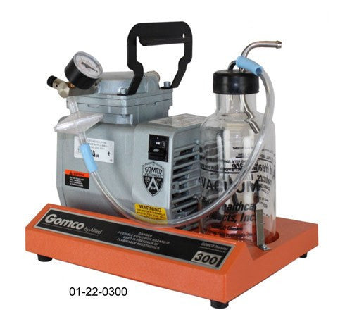 Gomco 300 Table Top Aspirator Machine with 1100 mL Disposable Canister for Suction Machines by Allied Healthcare | Medical Supplies