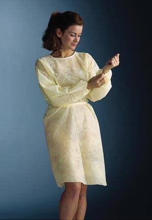 Isolation Gown, Sewn Elastic Cuffs