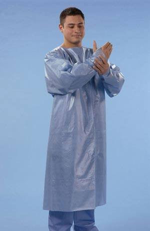 Full length Fluid Resistant Gown for Isolation Gowns by Graham Medical | Medical Supplies