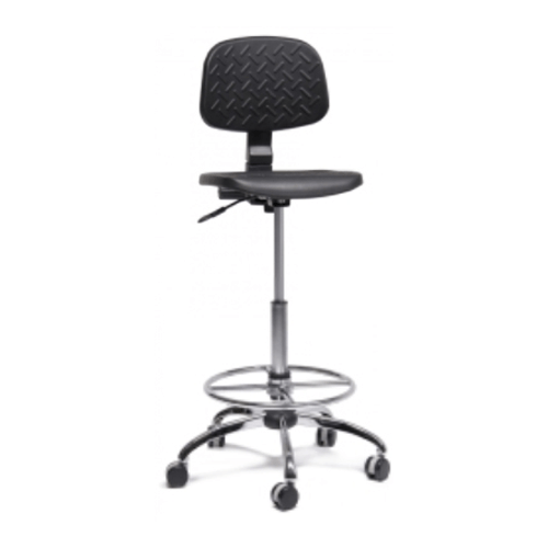 High-Bench Adjustable Laboratory Chair with Tilt-Backrest
