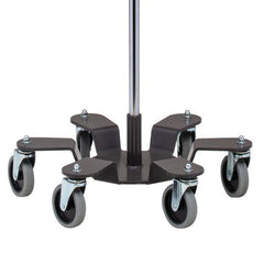 Buy Low Gravity Base Stainless Steel Infusion Pump Stand with 6 Legs by Clinton Industries from a SDVOSB | IV & Irrigation