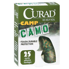 Buy Camo Camp Adhesive Bandages 25 Per Box by Curad from a SDVOSB | Adhesive Bandages
