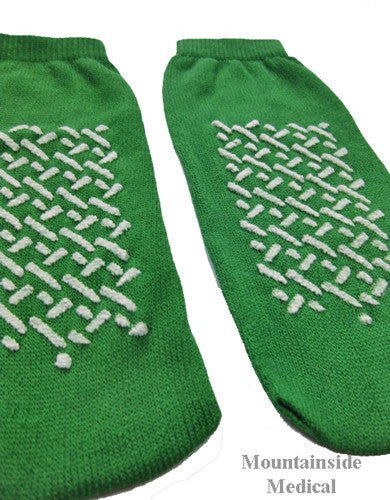 Dynarex Non Skid Slipper Socks Medium Green