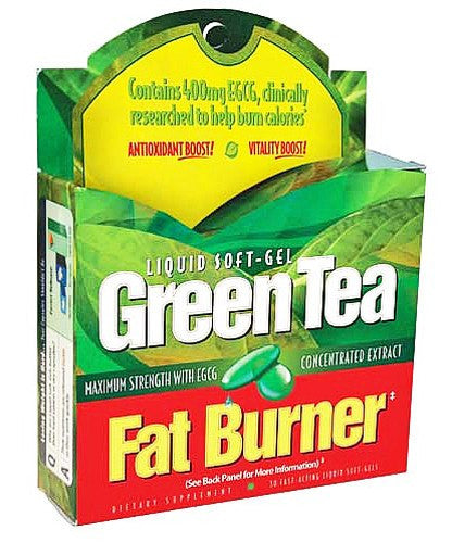 Buy Green Tea Fat Burner 30 Liquid Gels by Green Tea from a SDVOSB | Weight Loss