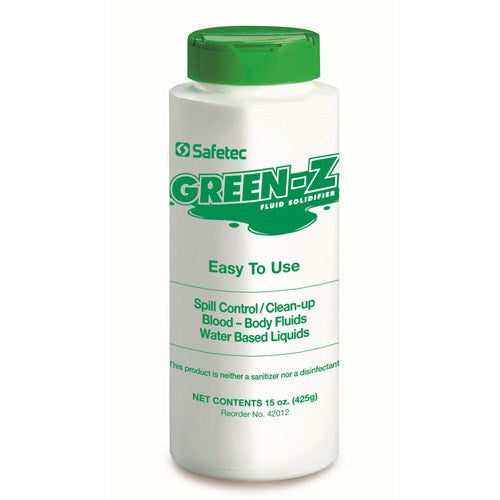Green Z Fluid Solidifier Shaker Bottle 15 oz - Fluid Control Solidifiers - Mountainside Medical Equipment