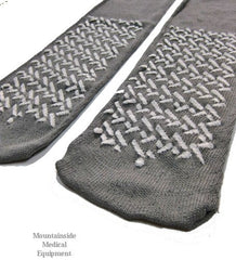 Buy Dynarex Non Skid Slipper Socks XX-Large Grey by Dynarex | Home Medical Supplies Online
