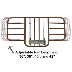 Buy Drive Medical Half Length Bed Rail with Adjustable Width by Drive Medical | SDVOSB - Mountainside Medical Equipment