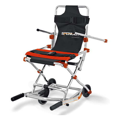 Emergency Evacuation Transport Chairs, Black - Transport Wheelchairs - Mountainside Medical Equipment
