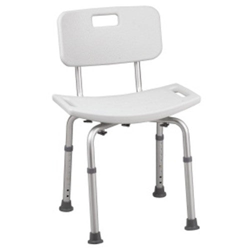 HealthSmart Bath Shower Chair Seat with Backrest and BactiX Protection for Shower Chairs by Briggs Healthcare/Mabis DMI | Medical Supplies