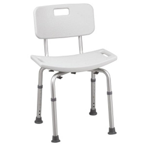 HealthSmart Bath Shower Chair Seat with Backrest and BactiX Protection Dementia Alzheimer's Disease Fall Prevention