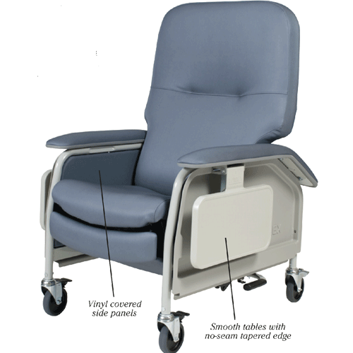 Lumex Heated Medical Chair with SilverGuard Fabric - Geri Chairs & Recliners - Mountainside Medical Equipment